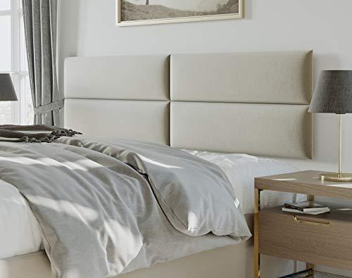 Vänt Upholstered Headboards - Wall Mounted Panels - Velvet Sand Storm - King Size