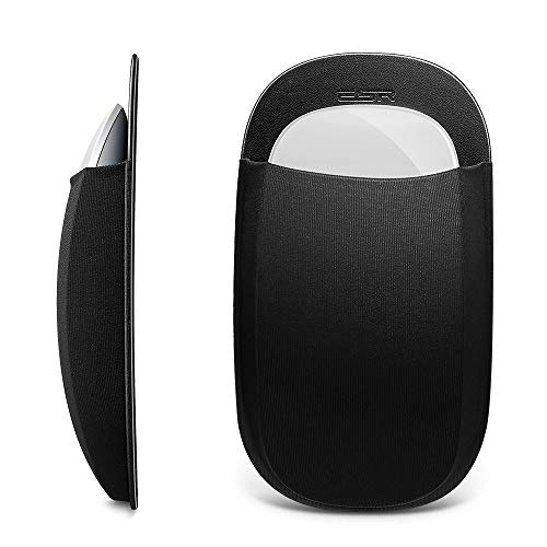 ESR Slim Mouse Holder, Case for Magic Mouse, with Reusable Adhesive, No Glue Residue, Compact Elastic Pouch/Carrying Sleeve, Can Be Attached to iPad or MacBook, Black