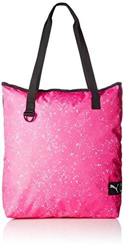 PUMA Damen Fundamentals Shopper II Tasche, Knockout pink White-Speckle, 40 x 44 x 1.5 cm