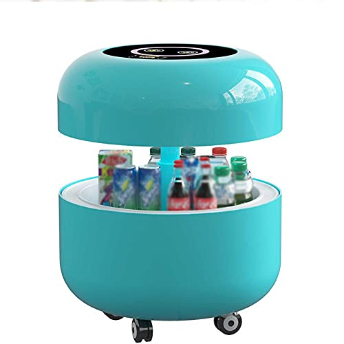 RSTJ-Sjcw Moderner Luxus Smart Couchtisch Smart Refrigerator Couchtisch, Heben Sie den Couchtisch mit Touchscreen-LCD, Blutooth Player und Kühlschrank an,Blau