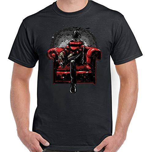 59 Freddy Krueger Camiseta en el sofá para hombre, divertida película de terror de Halloween