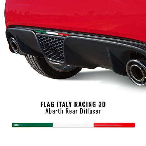 Quattroerre 14172-a Stripe 3D-Klebestreifen dreifarbig Italien für Abzieher 500 Abarth