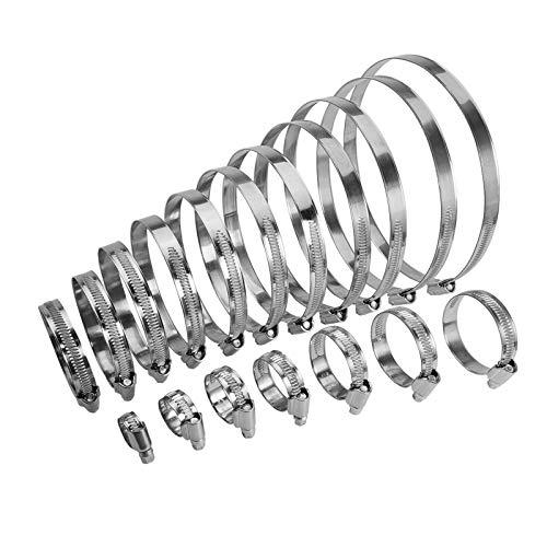 10 Stück Schlauchschellen Edelstahl V2A W4 DIN 3017 - Bandbreite 12 mm - Spannbereich 40-60 mm