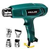 Heat Gun, PRULDE HG0080 Hot Air Gun Kit Dual Temperature Settings 752 -1112 Deg F with 4 Nozzles for Crafts, Shrink Wrapping/Tubing, Paint Removing