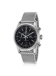 Breitling Men's Transocean Chronograph 38 Stainless Steel Black Dial image