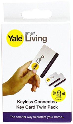 Yale P-YD-01-CON-RFIDC Smart Door Lock Key Cards, bianco, confezione da 2
