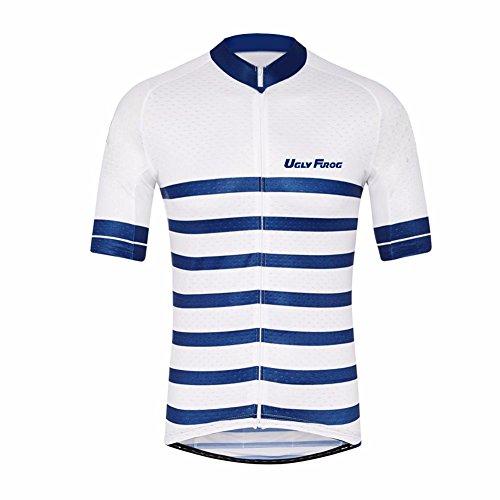 Uglyfrog Jersey de Ciclismo para Hombre Manga Corta Maillots/Camisa de Bicicleta de Montaña MTB Top con Cremallera Bolsillos Reflectantes