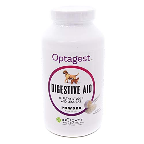In Clover Optagest Daily Digestive Immune Support for Dogs and Cats. Organic Prebiotic Natural Enzyme Powder for Healthy Stools and Less Gas. No Foreign Probiotics