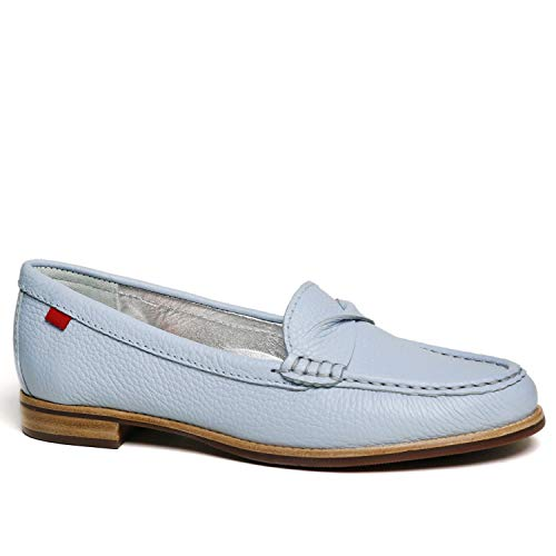 MARC JOSEPH NEW YORK Women's Twisted Penny Driving Loafer Baby Blue Tumbled 9