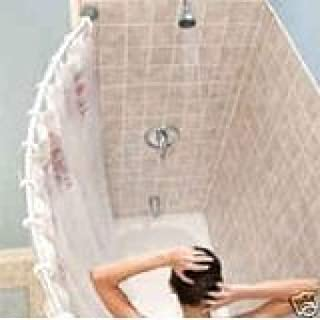 Curved shower rod – Aluminum, Adjustable 29 inches - 49 inches, SILVER, Hardware included, Brand New