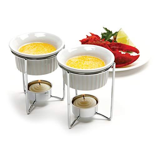 Norpro Butter Warmers, Set of 2, 1 EA, White