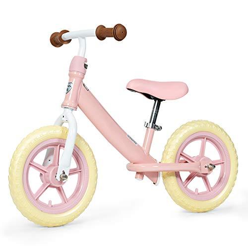 COSTWAY Kinder Laufrad mit verstellbarem Sitz, Balance Fahrrad ohne Pedale, Balance Bike, Kinderlaufrad, Lauflernrad für Kleinkinder und Kinder im Alter von 3 - 5 Jahren (Rosa)