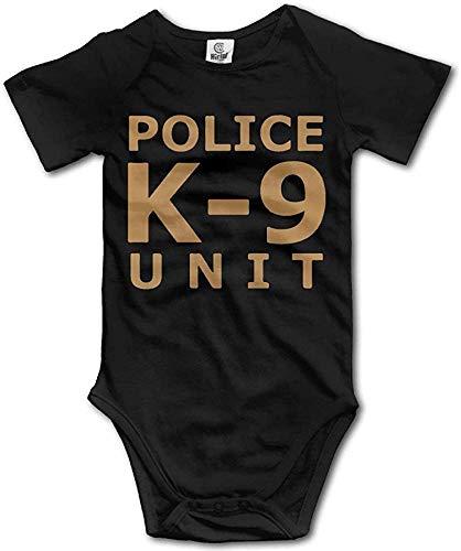 Nascb Police K9 Unit Mono Unisex para bebé Mono Corto de Mameluco Seleeve de algodón
