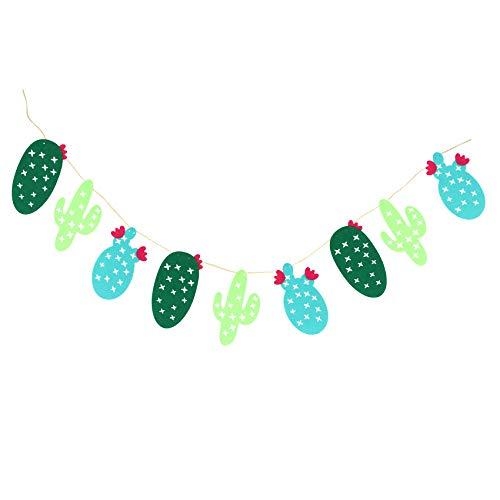 Gesh 1 juego de tela no tejida de cactus guirnalda de banderines de banderines de banderines de guirnaldas de fiesta de regalos de decoración del hogar fiesta de cumpleaños suministros de eventos