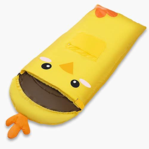 MXueei - Saco de dormir para niños Primavera y Verano Acampar al Aire Libre Suave y cálido Saco de Dormir de Interior para Menores de 14 años (Color : Yellow)