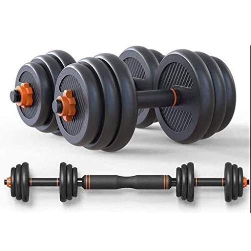 Mancuernas Pesas, Pesas Pesas Conjunto multifuncional desmontable con mancuernas Barra Mixta de Home Gym Equipment Equipo de la aptitud for hombres y mujeres 25kg / 55lbs Equipo de ejercicio físico