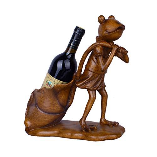 YSFFHDH Botellero Figuritas Decoración del Hogar Handicranfts Vinero Titular de Vinos de Resina Adornos Decoración de Escritorio