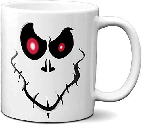 N\A Tazas de café Personalizadas de Halloween - Halloween Divertido - Agregar Nombre, número, Letra o Cualquier Otra Cosa, Taza de café (Cara de Goofy)