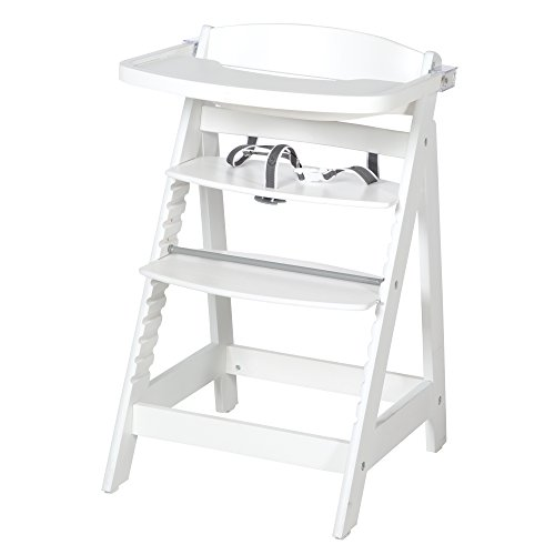 Roba Sit Up FUN, hoge stoel incl. afneembare eetplank en beugel, meegroeiend van babystoel tot kinderstoel, houten hoge stoel Sit Up Fun Sit Up Fun wit