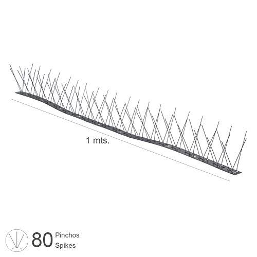 Preisvergleich Produktbild AFT - Taubenspikes auf 1 m Edelstahlleiste,  biegbar,  doppelt