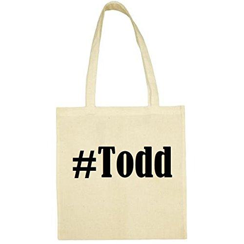 Tasche #Todd Größe 38x42 Farbe Natur Druck Schwarz