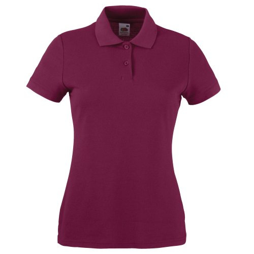 Fruit of the Loom 65/35 Polo Lady-Fit - Farbe: Burgundy - Größe: M
