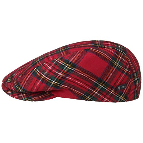 Lipodo Tartan Check Flat Cap Dames/Heren - Made in Italy pet met klep hat wintercap voering voor Zomer/Winter