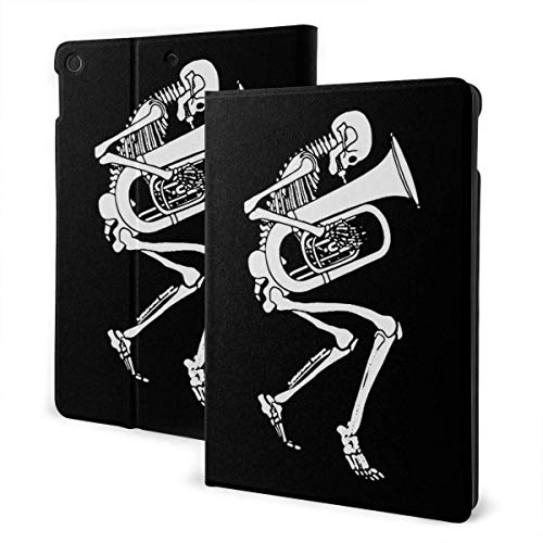 liukaidsfs Tuba Skeleton Printed Black Slim Lightweight Smart Shell Stand Cover Case for iPad Air3 & pro (10.5-Inch,Auto Wake/Sleep)