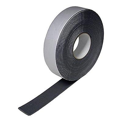 "DiversiTech 6-9718 Foam Insulation Tape, 1/8"" x 2"" x 30' Roll, Black"