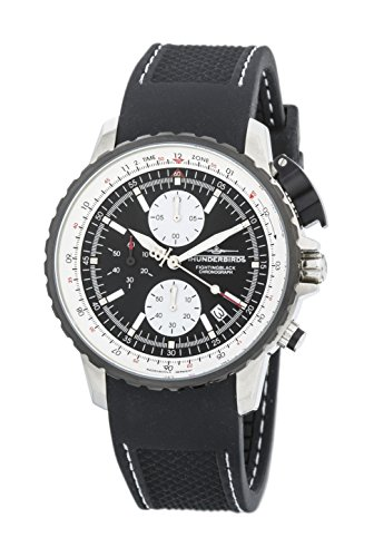 Thunderbirds - FightingBlack Steel - Chronograph - Silikonband - Ref. TB1057-01-K01