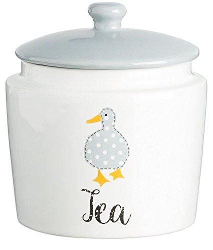 Price & Kensington Madison Bocal à thé en Porcelaine Fine, Blanc