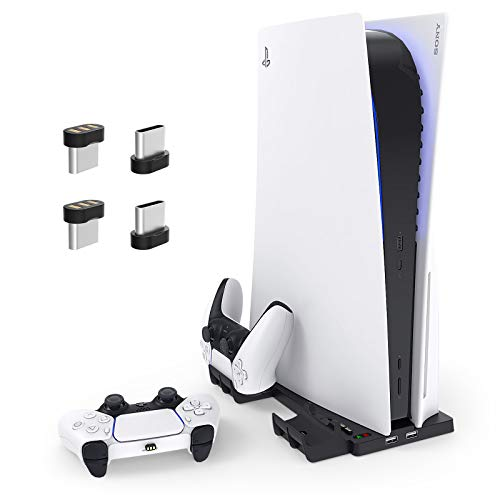 2 in 1 Vertical Stand for PS5 Di...