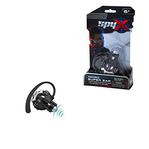 SpyX / Micro Super Ear - Spy Toy Listening Device with Over-The-Ear Design. A Perfect Hands Free Addition for Your spy Gear Collection!