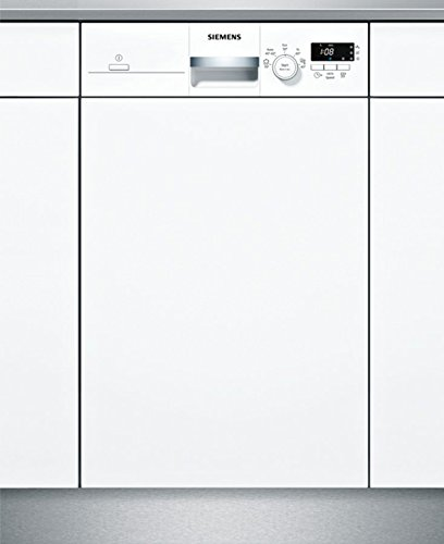 Siemens iQ100 SR515W03CE lavavajilla Semi-incorporado 9 cubiertos A+ - Lavavajillas (Semi-incorporado, Estrecho (45 cm), Acero inoxidable, Botones, Giratorio, 1,75 m, 1,65 m)