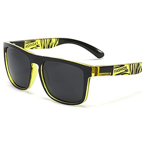 HGJINFANF - Occhiali da sole polarizzati per ciclismo maschile e femminile, occhiali da sole sportivi anti-ultravioletti, da pesca con vernice elastica alla moda