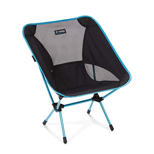 Helinox Chair One Original Lightweight, Compact, Collapsible Camping Chair, Black/Blue
