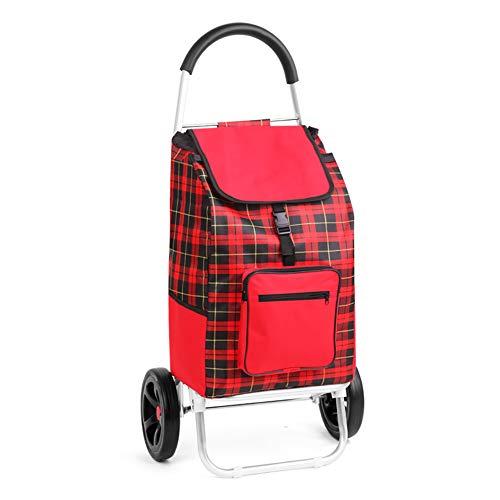 Fly® Einkaufswagen Faltbar Portable Trolley Handtrailer Alter Mann Lebensmittelgeschäft Einkaufswagen 2 Schubkarre Einfach Und Mühelos