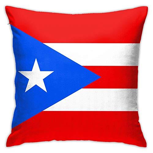Bandera de Puerto Rico Almohada cuadrada decorativa sofá coche hogar funda de almohada 45,7 x 18 pulgadas