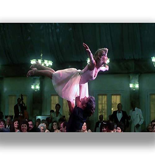 boxprints Dirty Dancing película de la película Estilo Retro Vintage Lienzo Arte de la Pared Imprimir Imagen Grande pequeño