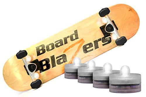 Board Blazers, die Original-LED-Unterleuchtleuchten für Skateboards, Longboards, selbstbalancierende Roller und Tretroller, Wild White