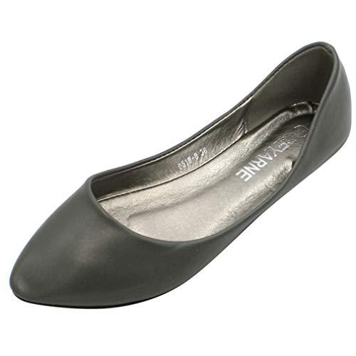 Vrouwen Puntschoen Enkele Schoenen Mode Ondiepe Mond Ballet Flats Eenvoudige Ademende Mocassins Kantoor Carrière Slip Casual Loafers