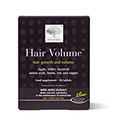 HAIR VOLUME: If you hair seems thin, try this hair supplement to support healthy looking hair with naturally sourced ingredients, like biotin, procyanidin B2 extracted from red apples, & millet extract which is rich in vitamins & minerals & amino aci...
