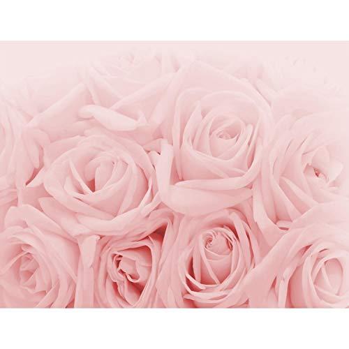 Fototapete Blumen Rosen 352 x 250 cm Vlies Tapeten Wandtapete XXL Moderne Wanddeko Wohnzimmer Schlafzimmer Büro Flur Rosa 9258011a