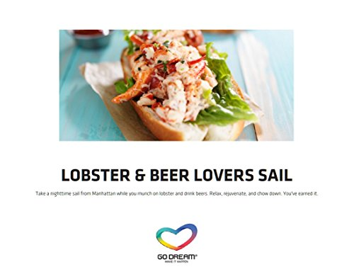 Lobster & Beer Lovers Sailing in New York Experience Gift Card NYC - GO DREAM - Sent in a Gift Package