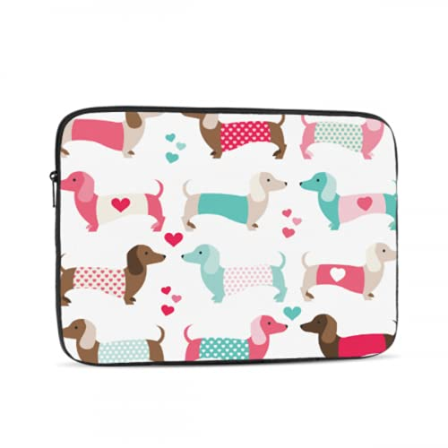 Mac Laptop Cover Cute Pet Smart Animation Dog Dachshund MacBook Pro Shell Multi-Color & Size Choices10/12/13/15/17 Inch Computer Tablet Briefcase Carrying Bag