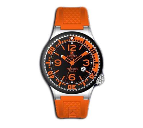 Waooh - Reloj Kienzle 720 3044 - pulsera de silicón Naranja - Marcar Negro