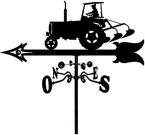FHTD El Clima Señoras de Acero Inoxidable Granja Tractor Viento Vane Viento Dirección del Viento Indicador para jardín Patio Adorno Adorno Decoración