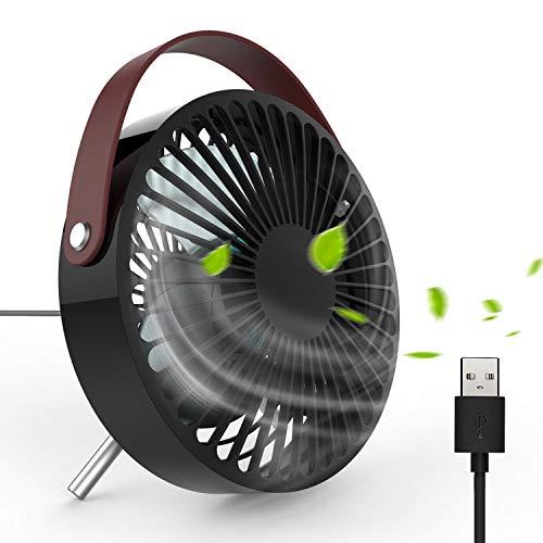 DOUHE Ventilatore USB - Mini Ventilatore USB Moderno Bello Ventilatore da Tavolo, Angolo Regolabile Ventilatore USB Circolazione Aria, Piccolo Portabile Ventilatore Scrivania per Ufficio Viaggio Casa