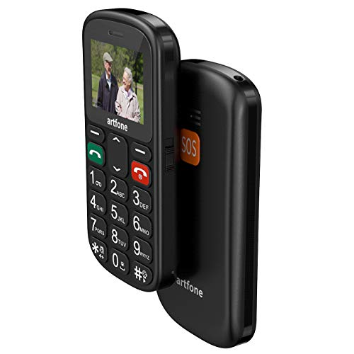 artfone Seniorenhandy ohne Vertrag   Dual SIM Handy mit Notruftaste   Rentner Handy große Tasten   GSM Handy   Großtastenhandy (CS181) - 2