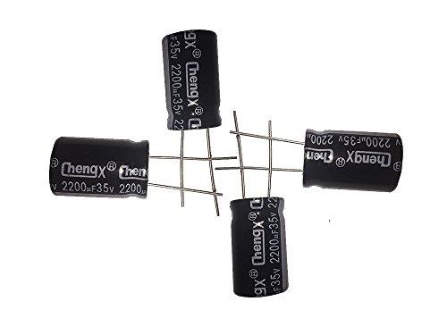 capacitors 2200uF 35V 16X25 +/-20% -40 to +105°C 10 PCS Aluminum Electrolytic Capacitors,2200uF 35V Capacitor,2200uF Capacitor,35V Capacitor,2200uF Capacitor 35V,35V 2200uF Capacitor